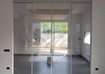 Parete vetro 2 ante apribili + 2 ante fisse struttura alluminio ral – luglio 2018